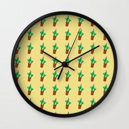 Kirsten's cactus Wall Clock