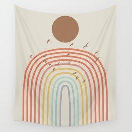 Rainbow minimal landscape Wall Tapestry