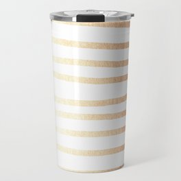 Simply Drawn Stripes Deep Bronze Amber Travel Mug