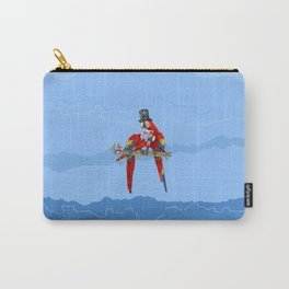 Happy couple in love-Macaws-Parrots-Bird-Animal Carry-All Pouch