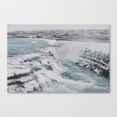 A night at the Gullfoss Canvas Print