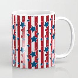 Blue stars, red striped Coffee Mug