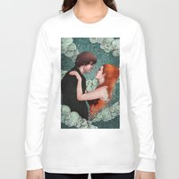 eternal sunshine Long Sleeve T-shirts featuring Eternal Sunshine - Meet Me In Montauk by Angela Rizza
