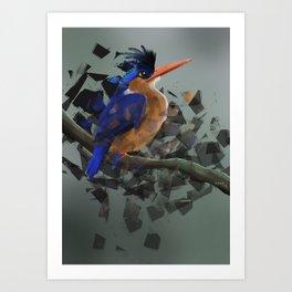Kungsfiskare Art Print