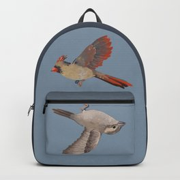 cardinal and sparrow Backpack