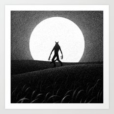 Drawlloween 2016: Werewolf Art Print