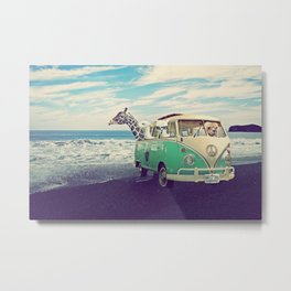 NEVER STOP EXPLORING THE BEACH Metal Print