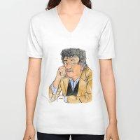 vonnegut V-neck T-shirts featuring Vonnegut by McHank