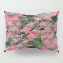 oval design with triangles Pillow Sham