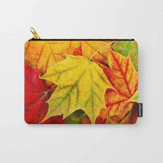 Color Leaves Carry-All Pouch