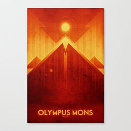 Mars - Olympus Mons Canvas Print