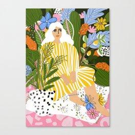 The Jungle Lady Canvas Print