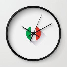 Minimal Italy Flag Wall Clock