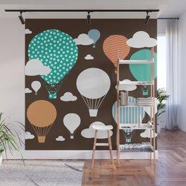 Hot air balloon chocolate Wall Mural