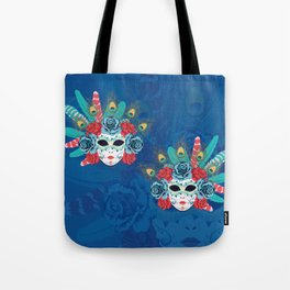 Carnival face mask Tote Bag