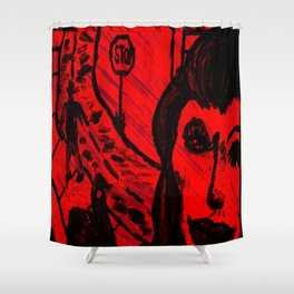 My Wife The Hitchhiker (Original Version) Shower Curtain