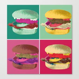 Pop Art Burger #2 Canvas Print