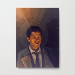 Castiel - Supernatural Metal Print
