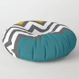 Color Blocked Chevron Floor Pillow