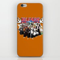 bleach iPhone & iPod Skins featuring TOGETHER BLEACH by feimyconcepts05