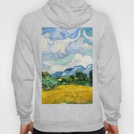 wheat field with cypresses 1889 by vincent van gogh Hoody