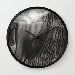 Blackwater Park - abstract watercolor monotype Wall Clock