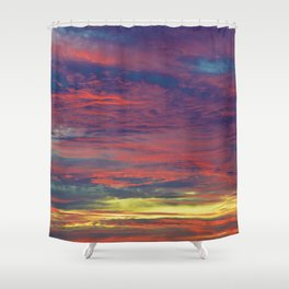 Cotton Candy coloured sky Shower Curtain