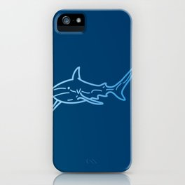 Shark wireframe iPhone Case