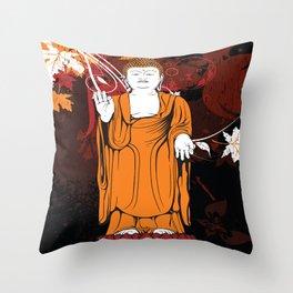 Vintage Buddha Throw Pillow