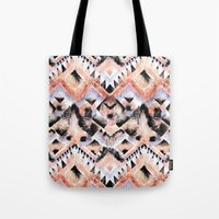 southwest Tote Bags featuring Southwest Floral by Casey Saccomanno
