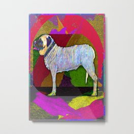 Mastifically Colorful Metal Print