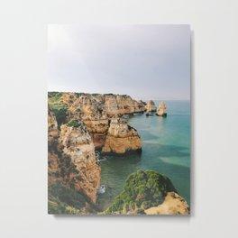 Ponta da Piedade, Lagos, Portugal Metal Print