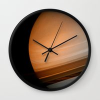 saturn Wall Clocks featuring Saturn by Anne Seltmann