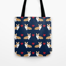 Corgi love hearts valentines day pet gifts love welsh corgi dog breeds pet friendly pattern Tote Bag