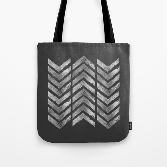 STAMPS SERIES N3 HERRINGBONE BLACK Tote Bag