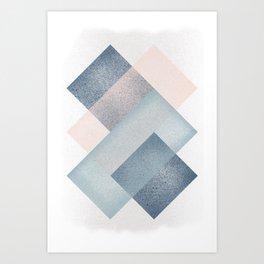 Rectangular Pattern Art Print