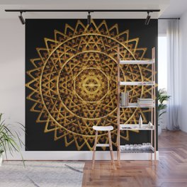 Golden Harmony Disc Wall Mural