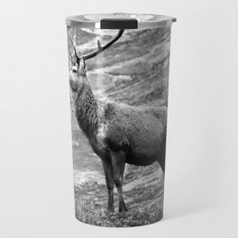 Stag b/w Travel Mug