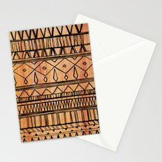 Wooden Tribal Pattern Stationery Cards