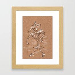 Dancing clown Framed Art Print