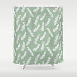 Winter Evergreen Shower Curtain