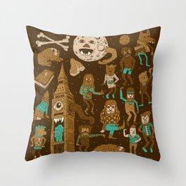 Wow! Werewolves!  Throw Pillow