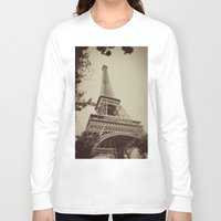 eiffel tower Long Sleeve T-shirts featuring Eiffel Tower by AngelicaRoesler