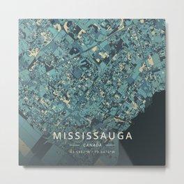 Mississauga, Canada - Cream Blue Metal Print
