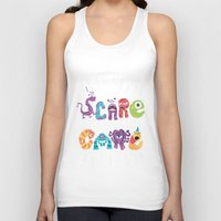 risa rodil Tank Tops featuring We Scare Because We Care by Risa Rodil