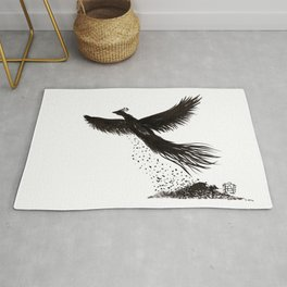 Phoenix rising from the ashes Rug