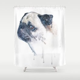 Pug Forest Shower Curtain