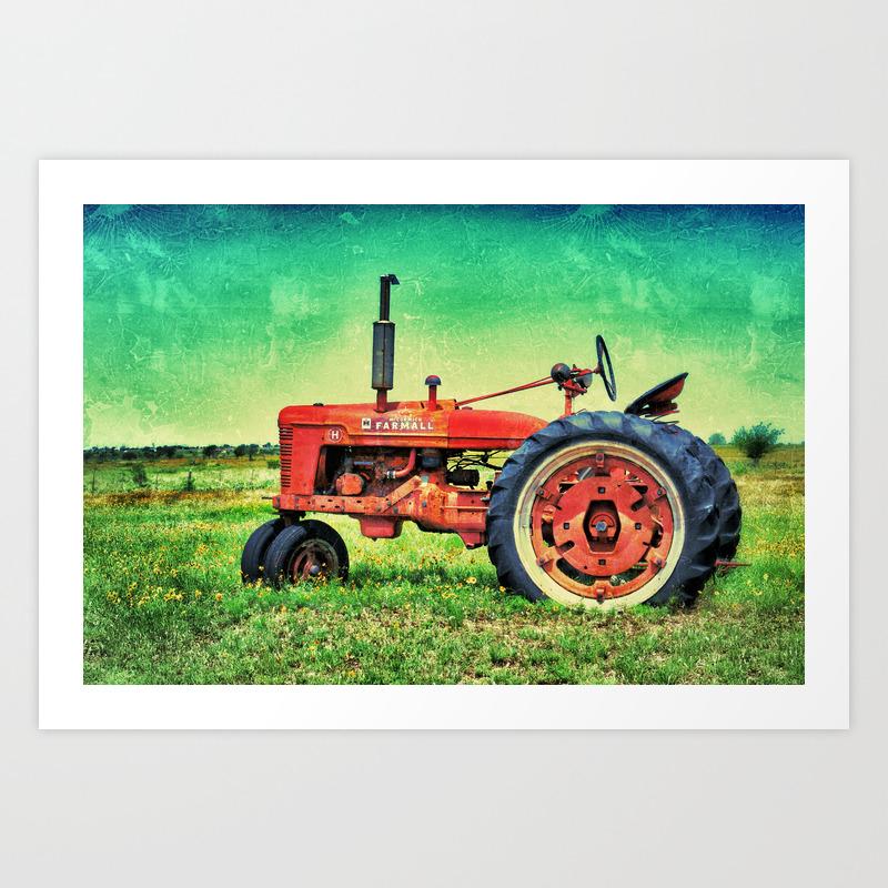 Bold Farmall Tractor Texas Art Print By Justinblackphoto Society6