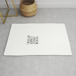 Your only limit is you #minimalism Rug