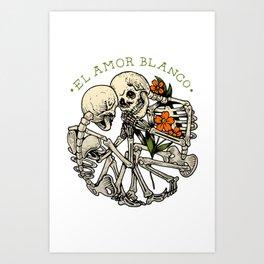 El amor blanco Art Print